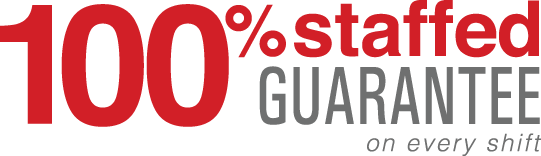 100% Staffed Guarantee on Every Shift