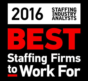 Best Staffing firm to work for award