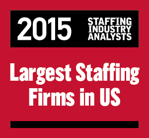 2015 SIA Largest Staffing logo