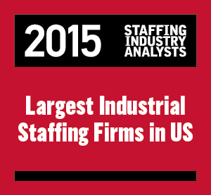 2015 SIA Largest Industrial Staffing Firm in US Logo