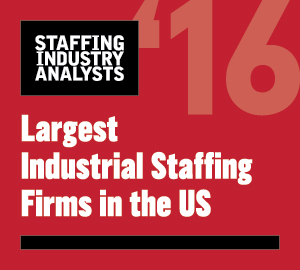 2016 SIA Largest Industrial Staffing Firm in US Logo