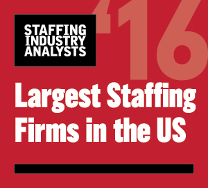 2016 SIA Largest Staffing Firm in US Logo